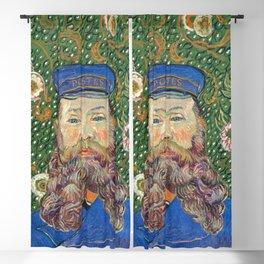 Portrait of the Postman by Vincent van Gogh Blackout Curtain