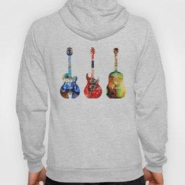 Guitar Threesome - Colorful Guitars By Sharon Cummings Hoody