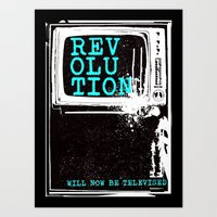 revolution Art Prints featuring revolution by J Maurice