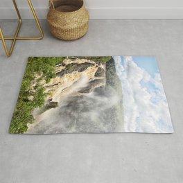 Barron Falls under a summer sky Rug