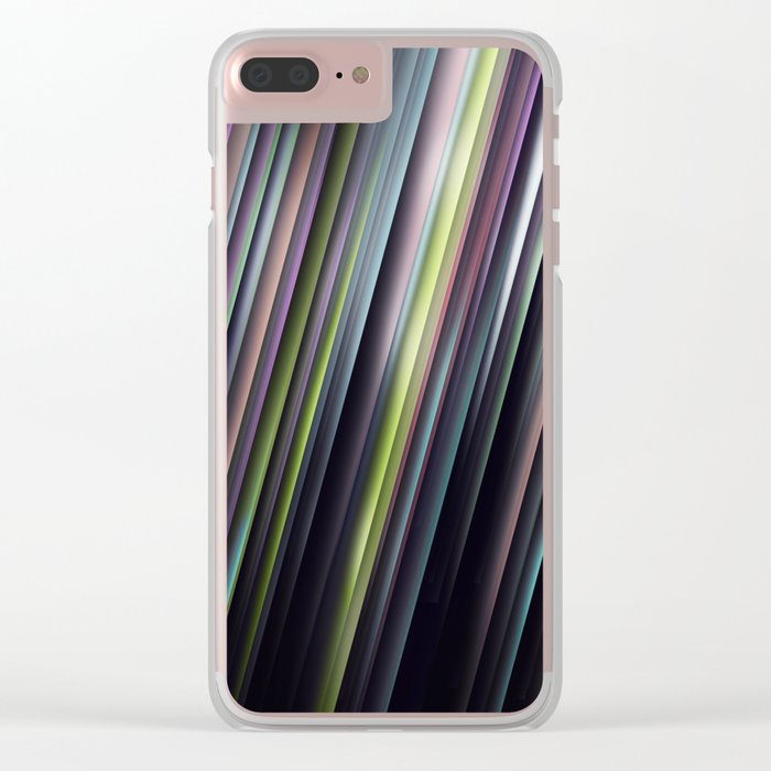 Colorful Glowing Stripes Clear iPhone Case