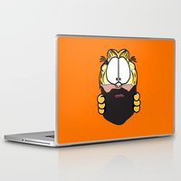 garfield Laptop & iPad Skins featuring Garfield Cat Beard by Stuff Your Eyes