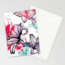 Splashy Flowers Stationery Cards