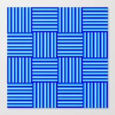 Havana Cabana - Blue Weave Stripe Canvas Print