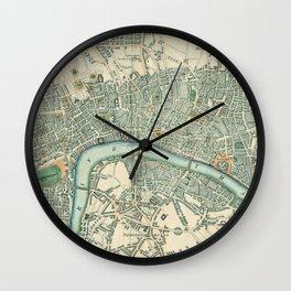 Vintage London Map Wall Clock