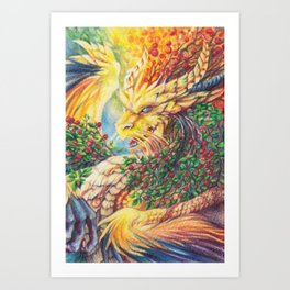 Mountain-ash Art Print
