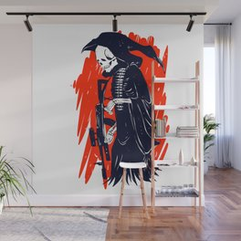 Military skeleton - grim soldier - gothic reaper Wall Mural