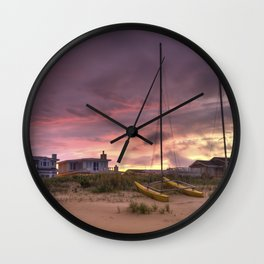 Sunset after Hurricane Florence Wall Clock