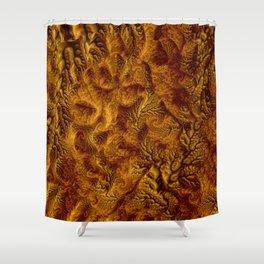Floral Fantasy 07 golden Shower Curtain