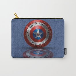 Team Typography USA Flag USA Symbol Carry-All Pouch