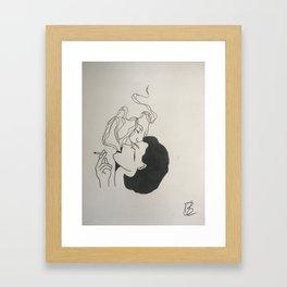 Smokey kiss Framed Art Print