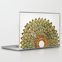 70s Laptop & iPad Skins featuring Peacock Mandala – 70s Palette by Cat Coquillette