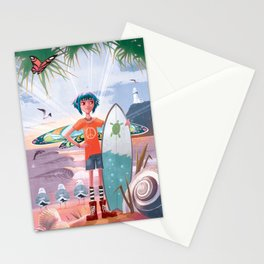 The Adventures of Lola and the Ocean Monster Stationery Cards