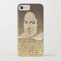 shakespeare iPhone & iPod Cases featuring William Shakespeare by Vi Sion