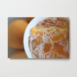 Orange Crushed Metal Print