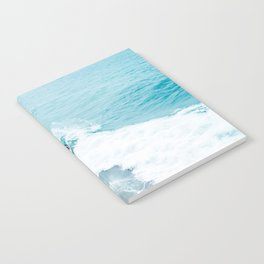 Wave Surfer Turquoise Notebook