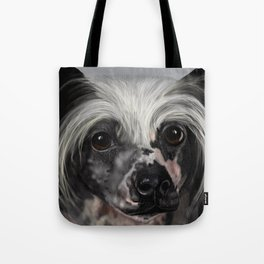 Chinese Crested Up Close Tote Bag