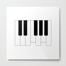 Piano keys. Playing Piano #society6 #decor #buyart #artprint Metal Print