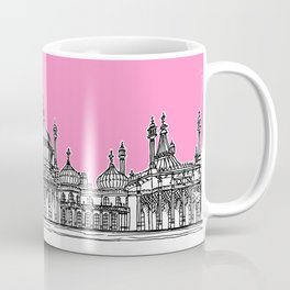 Brighton Royal Pavilion Facade ( pink version ) Coffee Mug