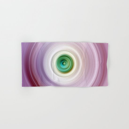 Pink and White Swirl with Green Center Hand & Bath Towel