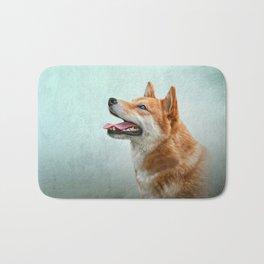 Drawing Japanese Shiba Inu dog 2 Bath Mat
