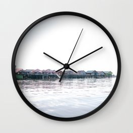 Koh Panyi | Thailand| village the water in thailand Wall Clock