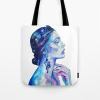 queen Tote Bags featuring Queen by Andreea Maria Has