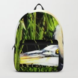 Heron Close Up Backpack