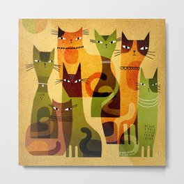 CAT HERD Metal Print