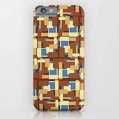 Blue Earth Patch Pattern iPhone 6s Slim Case