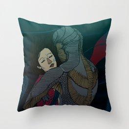 Fluid love Throw Pillow