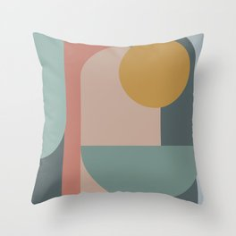 Zen Shape and Color Study 58 Throw Pillow