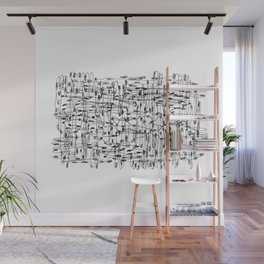 wires, nodes Wall Mural