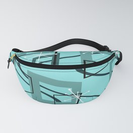 Mid Century Modern Minimalism Turquoise Fanny Pack