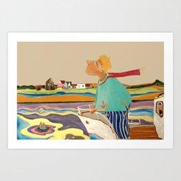 Am Rhein Art Print