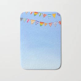 Banners in the sky Bath Mat