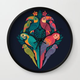 Tropicana Reflections : Dark Wall Clock