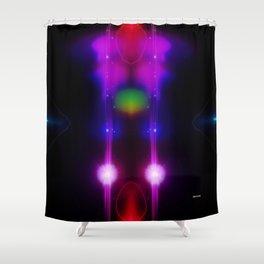 Alien Megastructures Shower Curtain