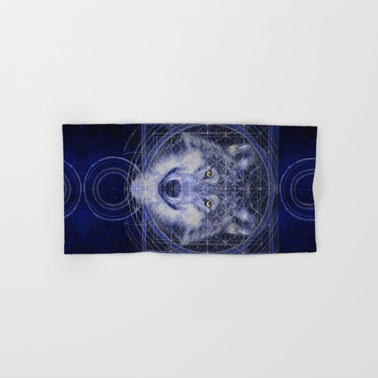 Wolf Geometry Hand & Bath Towel