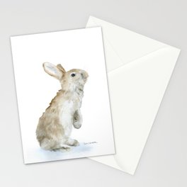 Bunny Rabbit Watercolor Stationery Cards