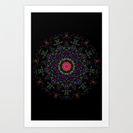 Quilt Kaleidoscope Art Print