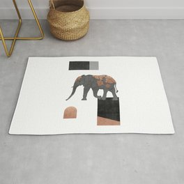 Elephant Mosaic II, Animals Rug