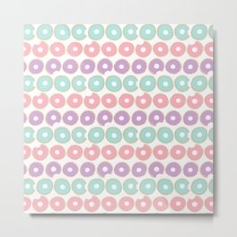 Donuts - Colorful Doodle Pattern Metal Print