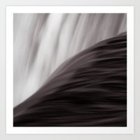 waterfall Art Prints featuring Waterfall by Alexandra Str