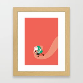 Make it up as you go along - orange Framed Art Print