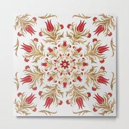 Turkish tulip - Ottoman tile 2 Metal Print