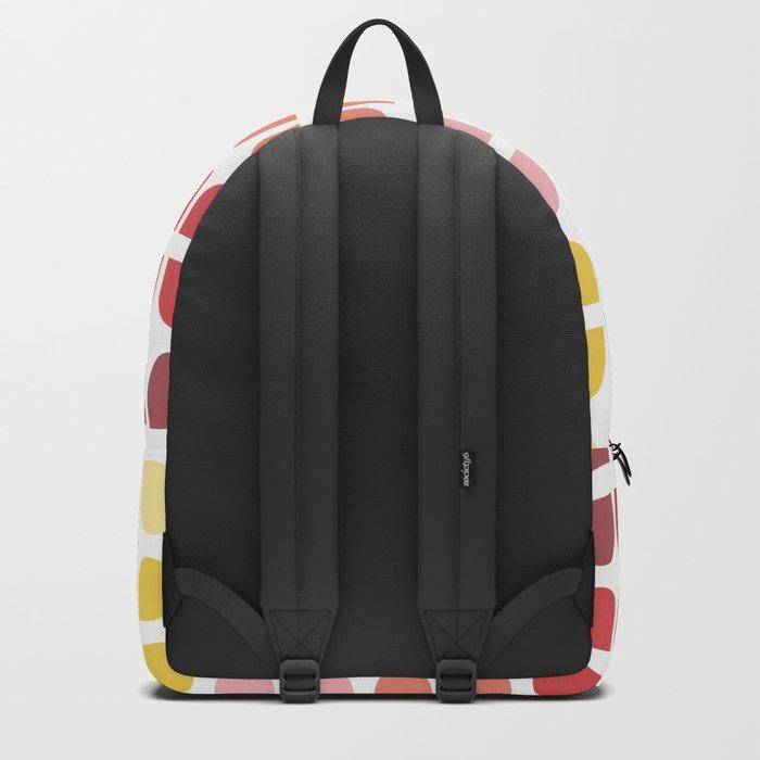 Floral Geometry Pattern Backpack