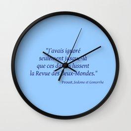 Imparfait du subjonctif 3- Proust. Wall Clock