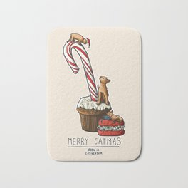 Merry Catmas Bath Mat