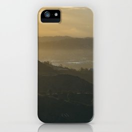 Hollywood Hills at Sunrise iPhone Case